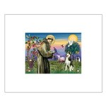 St Francis & Husky Small Poster
