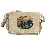 St Francis #2/ Yorkie #17 Messenger Bag
