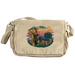 St. Francis / 2 Yorkies Messenger Bag