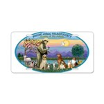 St Francis / dogs-cats Aluminum License Plate