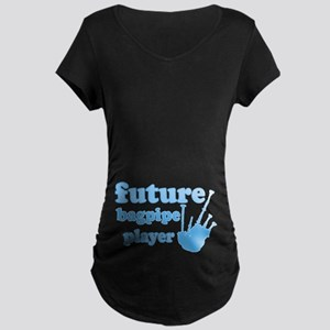 Future Bagpipe Player Maternity Dark T-Shirt