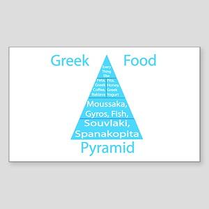 Greek Food Pyramid Sticker (Rectangle)