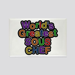 World's Greatest SOUS CHEF Rectangle Magnet