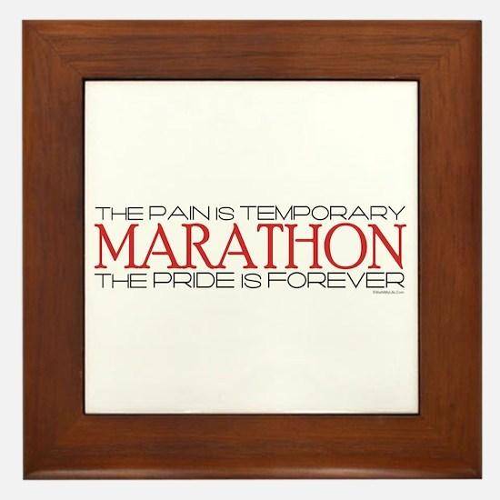 Marathon - Pride is Forever Framed Tile