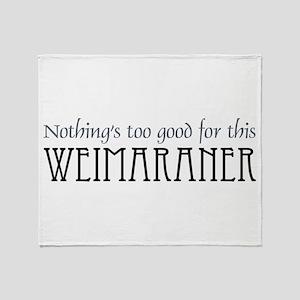 NTG-Weimaraner Throw Blanket