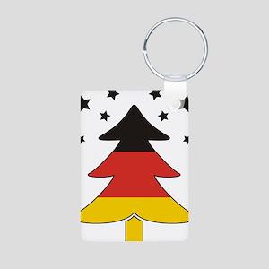 german Flag Christmas Tree Aluminum Photo Keychain
