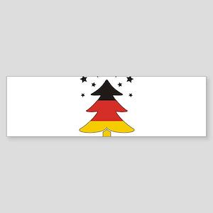 german Flag Christmas Tree Sticker (Bumper)