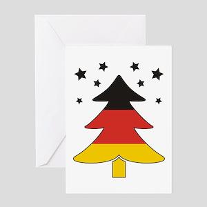 german Flag Christmas Tree Greeting Card