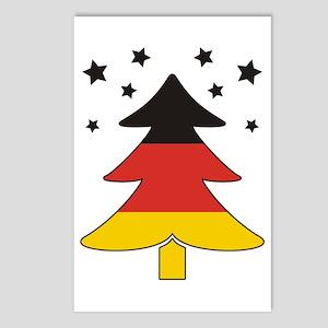 german Flag Christmas Tree Postcards (Package of 8