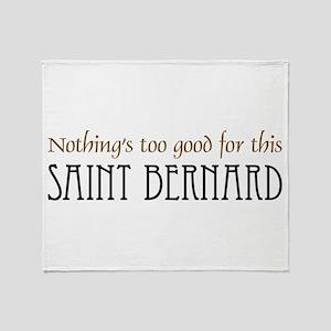 NTG-St. Bernard Throw Blanket