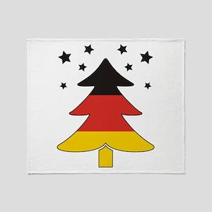 german Flag Christmas Tree Throw Blanket