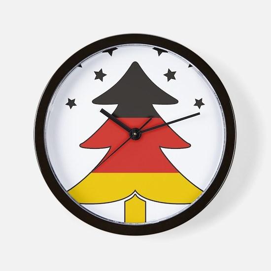 german Flag Christmas Tree Wall Clock