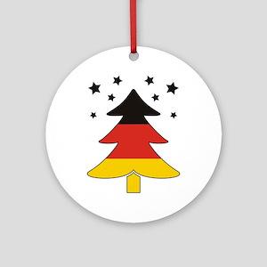 german Flag Christmas Tree Ornament (Round)