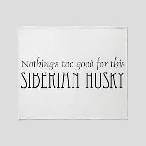 NTG-Siberian Husky Throw Blanket