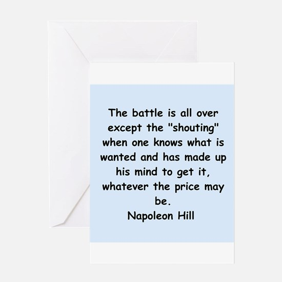 Napolean Hill quotes Greeting Card