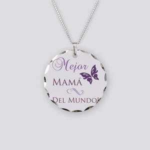 World's Best Mom Necklace Circle Charm