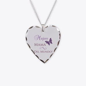 World's Best Mom Necklace Heart Charm