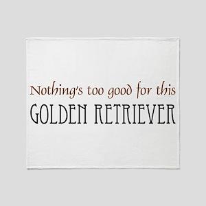 NTG-Golden Retriever Throw Blanket