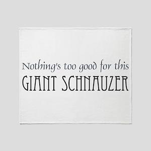Giant Schnauzer Throw Blanket