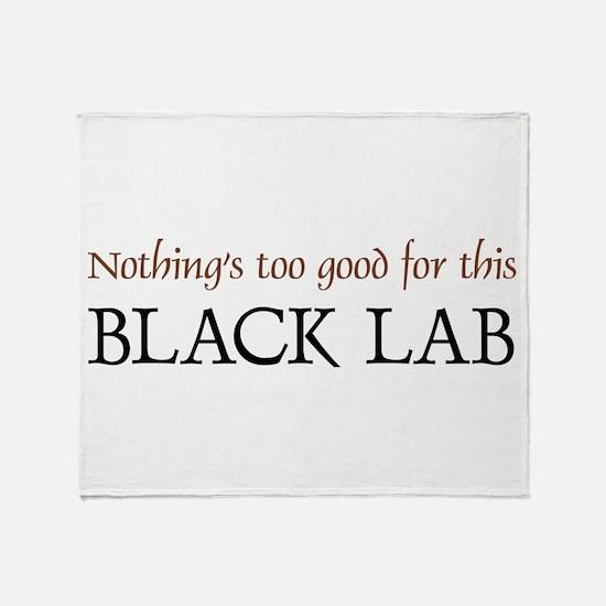 NTG-Black Lab Throw Blanket