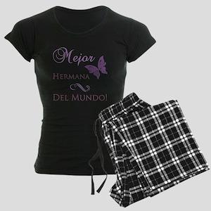 World's Best Sister Women's Dark Pajamas