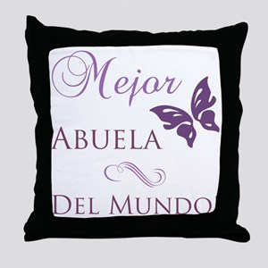 World's Best Grandma Throw Pillow