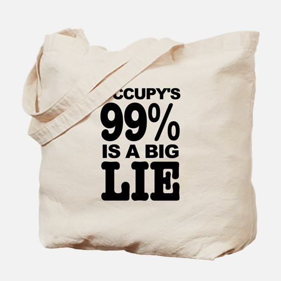 Occupy's 99% is a Big Lie Tote Bag