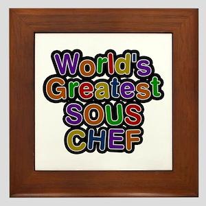 World's Greatest SOUS CHEF Framed Tile
