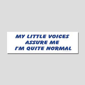 My little voices... Car Magnet 10 x 3