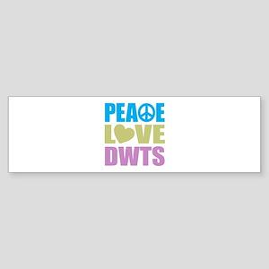 Peace Love DWTS Sticker (Bumper)