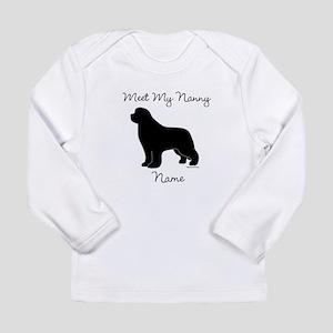 Meet My Nanny - Black Newf Long Sleeve Infant T-Sh
