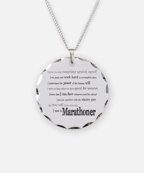 I Am a Marathoner Necklace