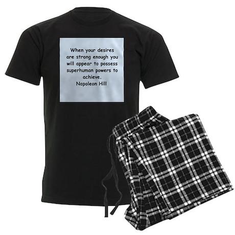 Napolean Hill quotes Men's Dark Pajamas