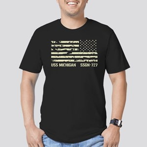 USS Michigan Men's Fitted T-Shirt (dark)