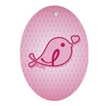 Little Birdie (BCA Light/Pink) Ornament (Oval)