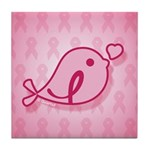Little Birdie (BCA Light/Pink) Tile Coaster