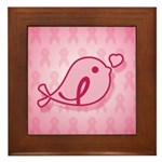Little Birdie (BCA Light/Pink) Framed Tile