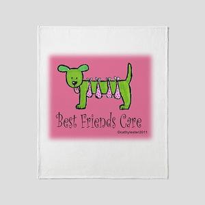 Breast Cancer Awareness Dog Throw Blanket