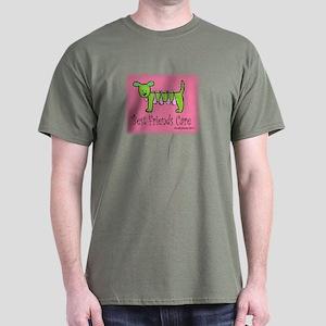 Breast Cancer Awareness Dog Dark T-Shirt