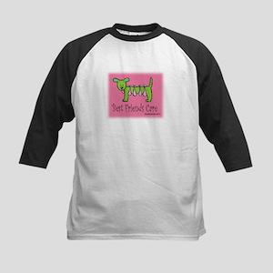 Breast Cancer Awareness Dog Kids Baseball Jersey