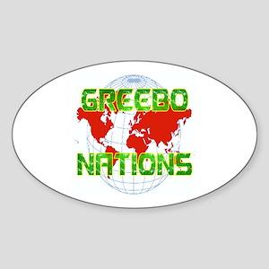 GREEBO NATIONS Oval Sticker