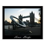 Tower Bridge sun dial Small Poster