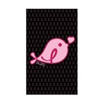 Little Birdie (BCA Light/Black) Sticker (Rectangle