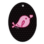 Little Birdie (BCA Light/Black) Ornament (Oval)