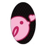 Little Birdie (BCA Light/Black) Sticker (Oval)