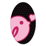 Little Birdie (BCA Light/Black) Sticker (Oval 10 p
