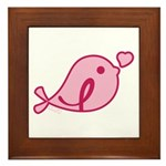 Little Birdie (BCA Light/Black) Framed Tile