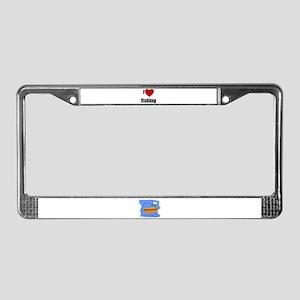 I LOVE FISHING License Plate Frame
