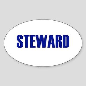Steward Oval Sticker