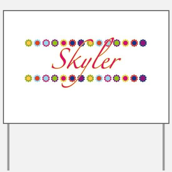 Skyler with Flowers Yard Sign